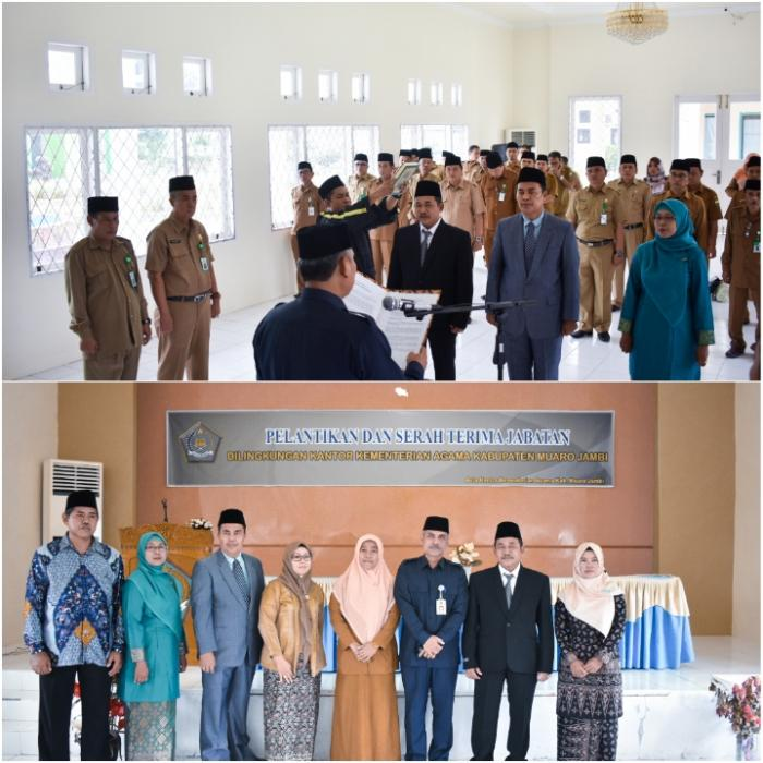 H. Buhri Lantik 3 Pejabat Dilingkup Kemenag Muarojambi