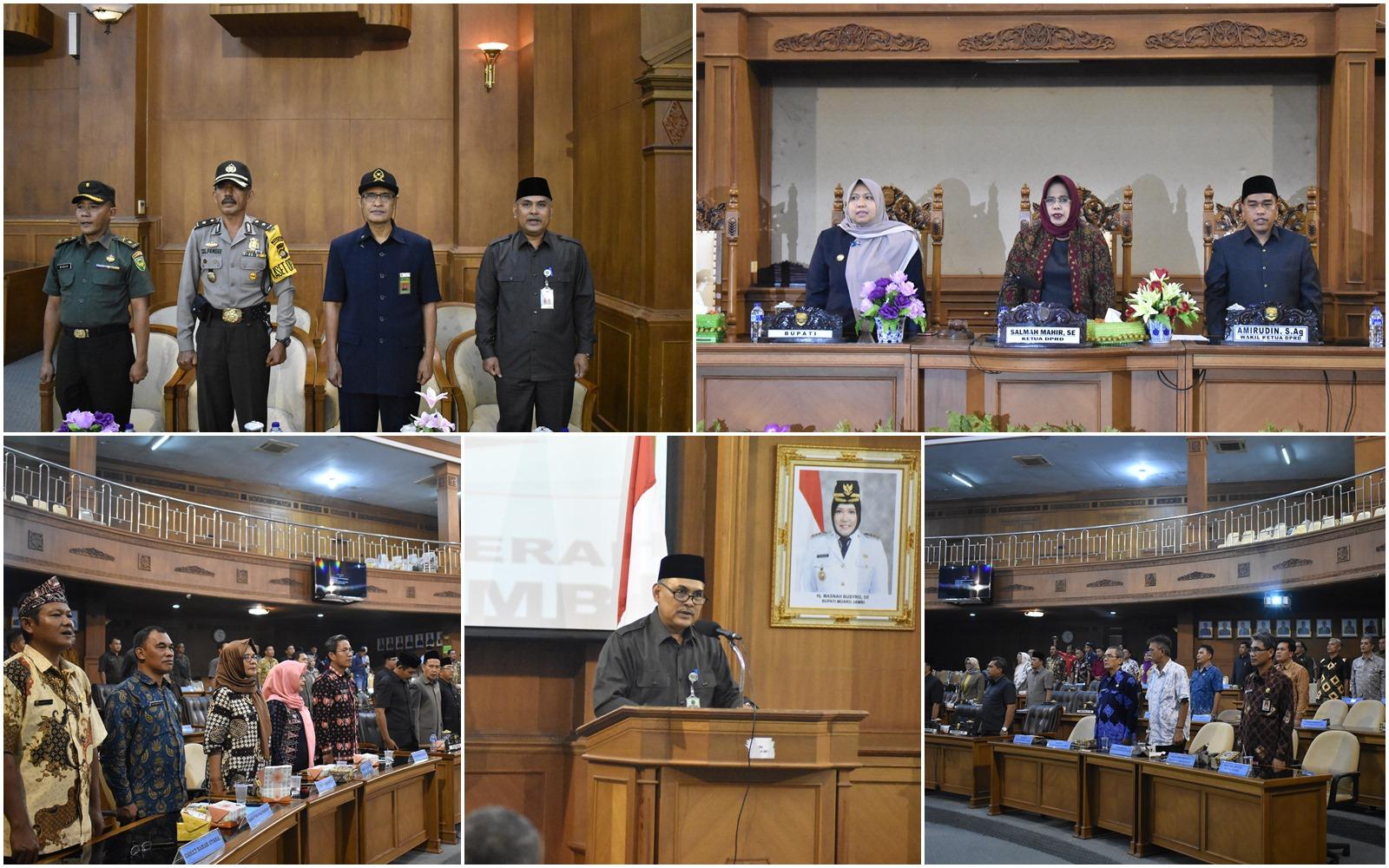 H. Buhri Pimpin Do'a Rapat Paripurna DPRD, kamis (7/2/19)