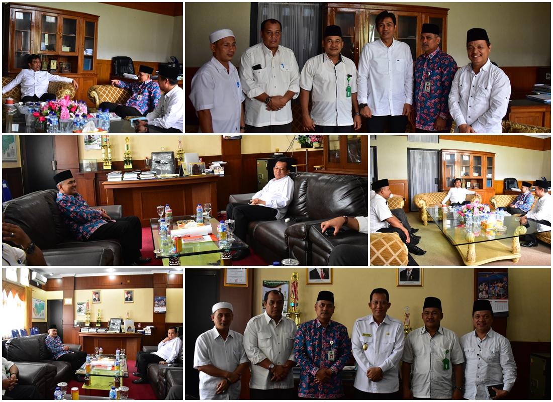 H. Burhi Bersilaturahmi Bersama Wabup dan Sekda, rabu (13/2)